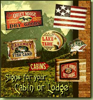 Rustic Signs for your Cabin, Lake House, or Lodge